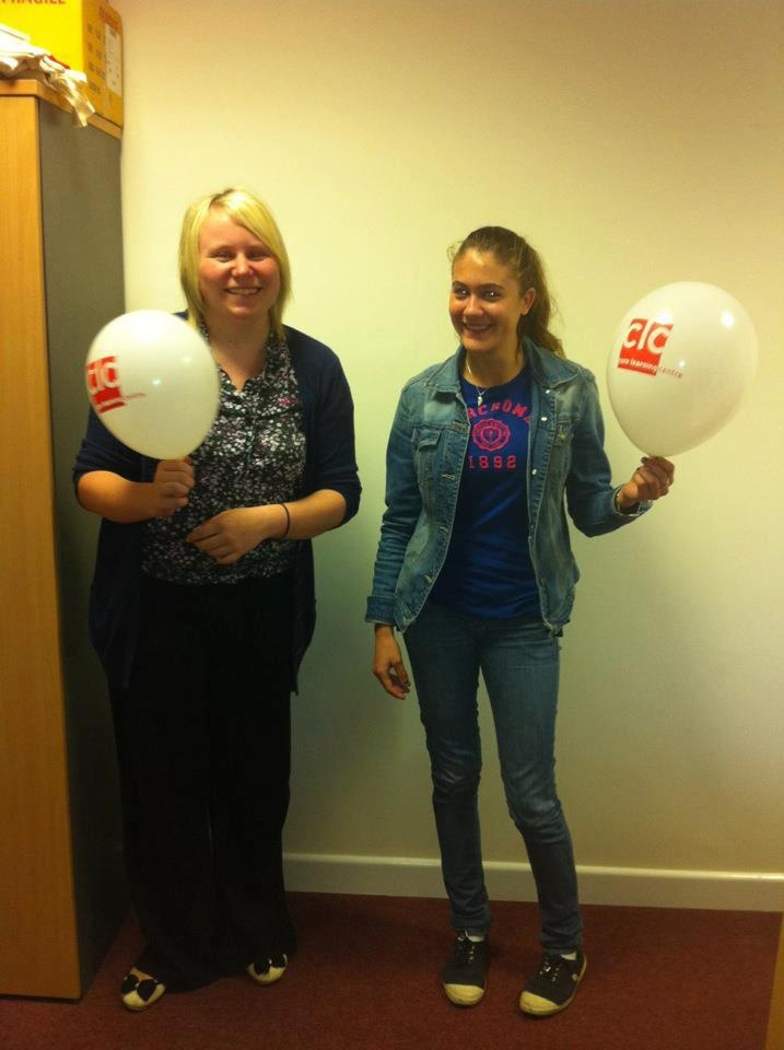 CLC employee and student on work experience 2012