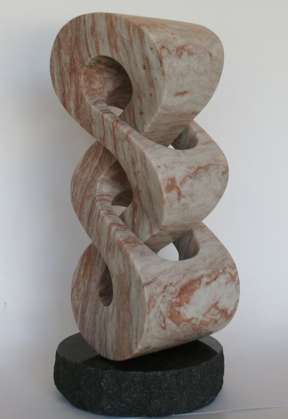 Stone Sculpture New Mexico Pink Alabaster Original One-of-a-kind Art Handmade