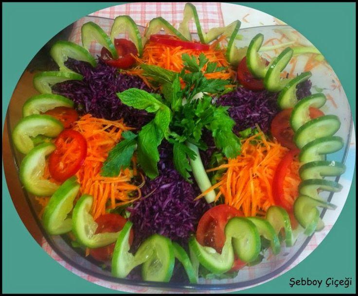 Şık salata sunumlarından seçmeler