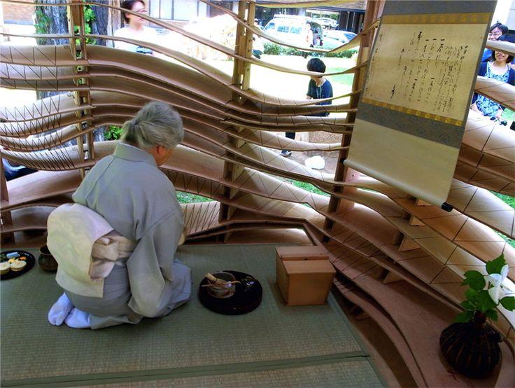 naminoma - tea ceremony held inside