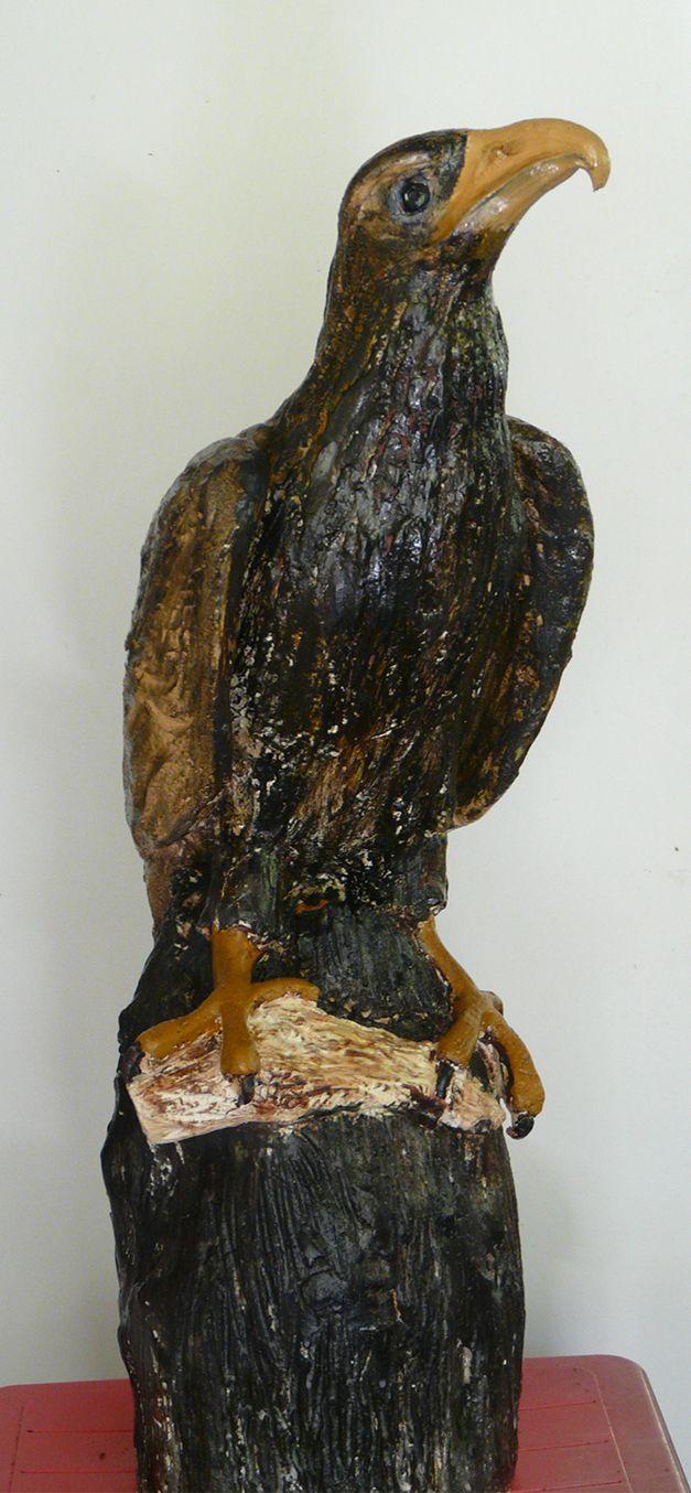 Eagle posed