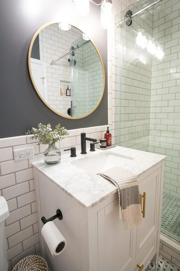 38+ Bathroom vanity with round mirror ideas