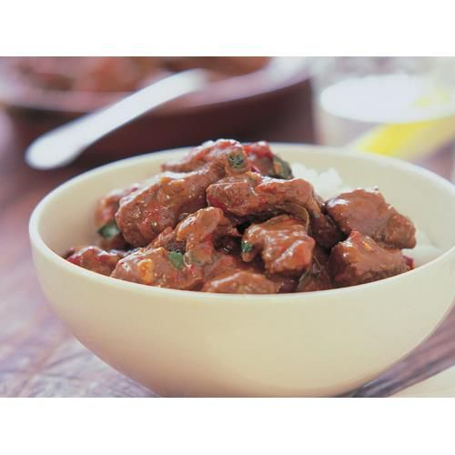 Chilli marinated beef in spicy coconut sauce recipe - By Australian Women's Weekly