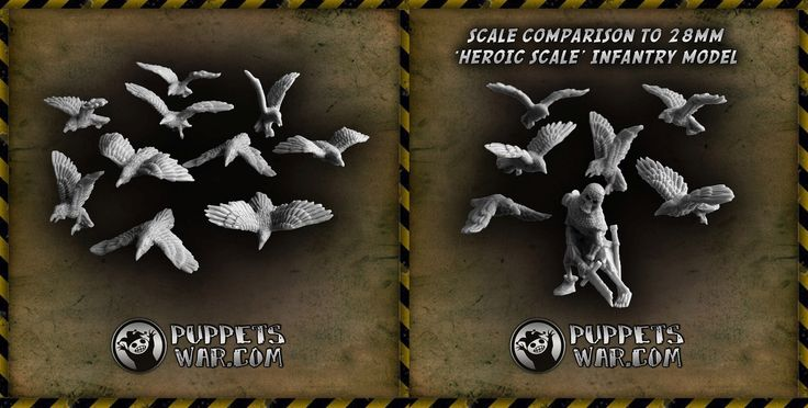 Ravens are ready! Till end of this week you can get them with 10% discount! set of 10 https://puppetswar.eu/product.php?id_product=713 set of 60 https://puppetswar.eu/product.php?id_product=714