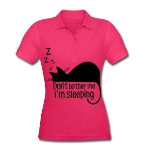 Schlafende Katze Poloshirts - Frauen Poloshirt