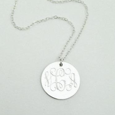 Custom #Monogram Necklace This sterling #silver monogram #necklace is a long time customer favorite. It makes a beautiful present for high school or college graduation that i... #monogram #prep #personalized #2014 #engraved #graduation #jewerly ➡️ http://jto.li/AAbVg