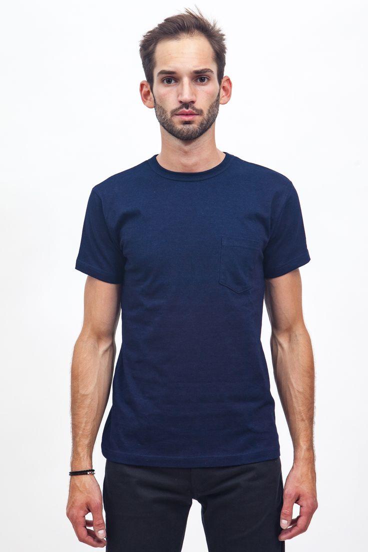 3sixteen - Heavyweight Pocket T-shirt Indigo