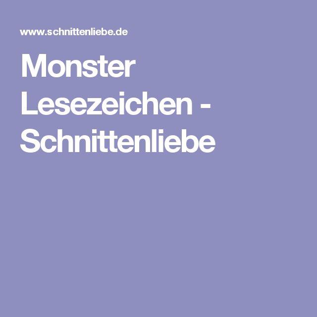Monster Lesezeichen - Schnittenliebe