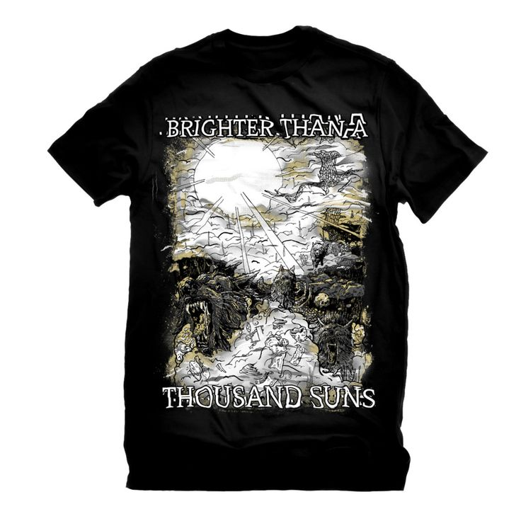 Brighter Than a Thousand Suns Wolves and the Apocalypse Printed Tee   Brighter Than a Thousand Suns