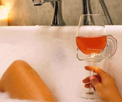 THIS IS WHY DID YOU BUY. Find the best stuff at the lowest prices by browsing Amazon's incredible : Bathtub Wine Glass Holder