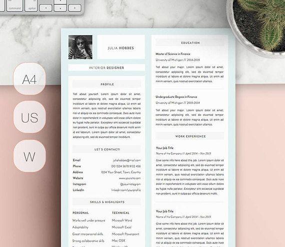 Resume Template  Professional Resume  Creative Resume