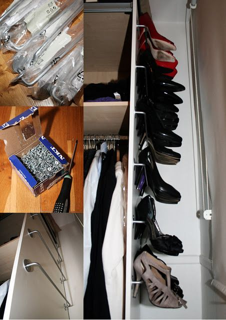 ikea hackers bygel stiletto shoe rack hate my shoes uncovered but might need this to save space