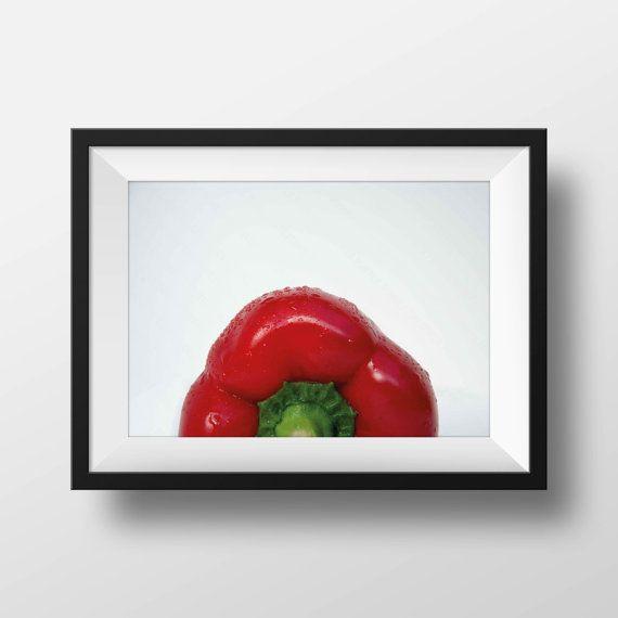 Red Pepper - Wall art. Home decor. Food. Print. Photographic print #wallart #homedecor #photography #red #redpepper #food #print