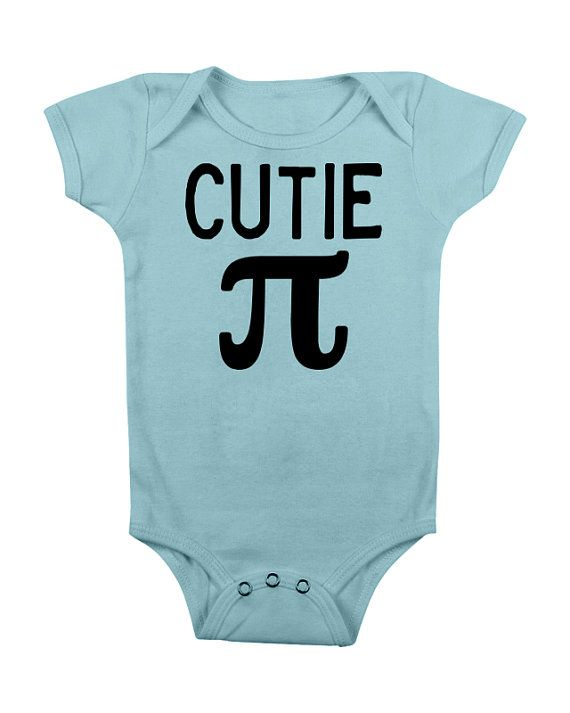 Cutie Pi Pie Bodysuit Baby Girls Boys Clothes CLothing – Math Geek Funny Pun Science Nerd Geeky Teacher Cute Unique Toddler- Cutie Pi  – awesome geeky baby stuff