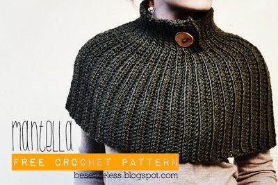 Airali handmade. Where is the Wonderland?: Mantella - Crochet Cape - free pattern scroll down for English