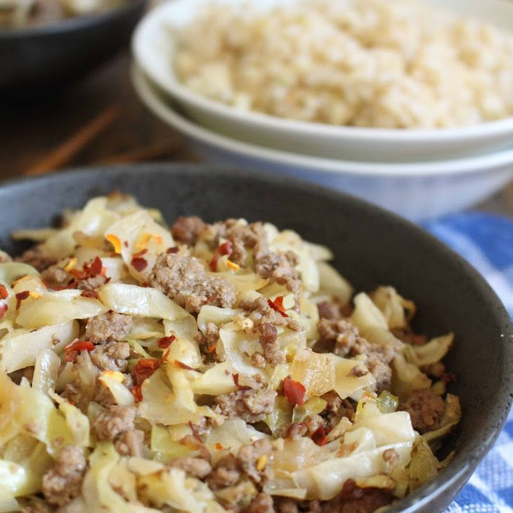 Ginger Beef Cabbage Recipe Yummly Recipe Ginger Beef Stuffed Peppers Recipes