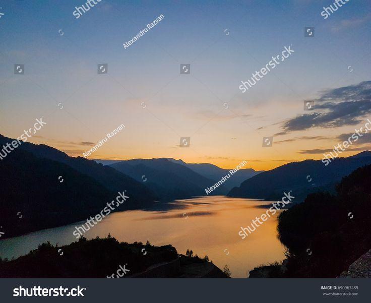 Siriu Lake in Carpanthian Mountains