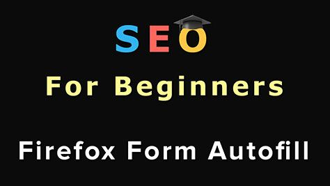 Firefox Autofill is a free add-on for Firefox that allows you to fill in forms with a single click! It is a great addon to speed up your SEO.