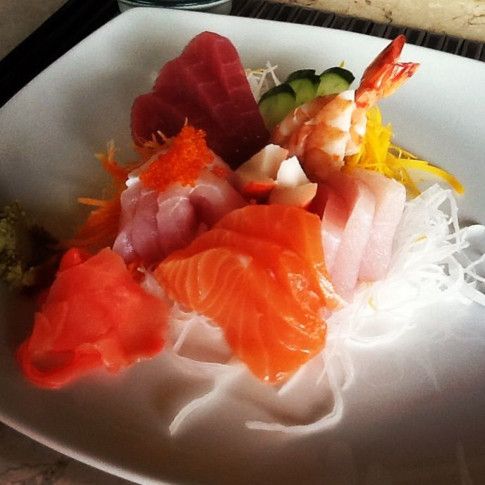 Sashimi for lunch menu today