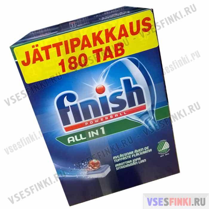 Таблетки FINISH для посудомоечной машины 180 шт