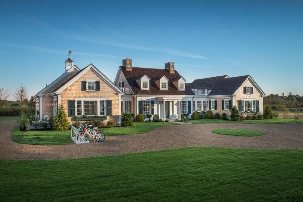 HGTV.com shares stunning pictures of the lush landscaping and Cape Cod style from HGTV Dream Home 2015.