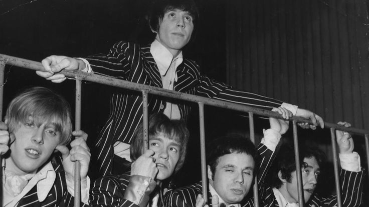 Singer Stevie Wright (top) and Easybeats band members George Young, Harry Vanda, Snowy Fleet & Dick Diamonde