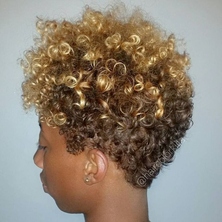 Short Brown Blonde Afro