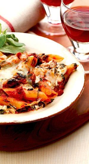 Recipe: Tomato Florentine Pasta Bake (using ground turkey and ricotta ...