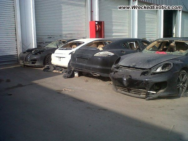 Car:  Porsche Panamera    Description:  Angry people destroyed everything during a riot, including these Porsche's sitting at a dealer lot.    Location:  Tunisia