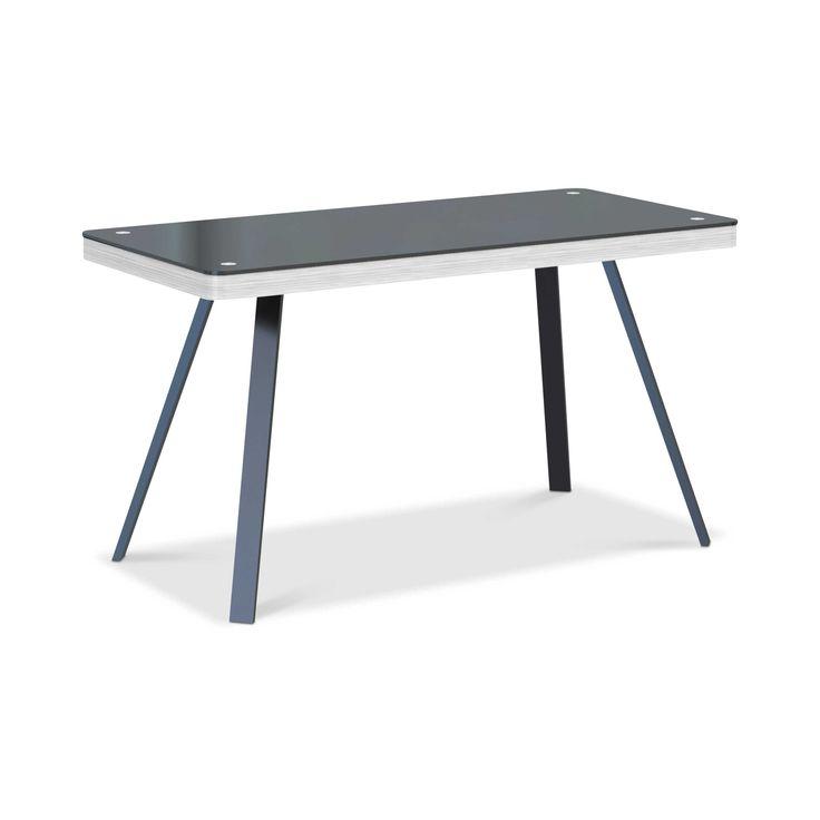Jahnke Schreibtisch CU-Salsa Desk 50 Schwarz Glas