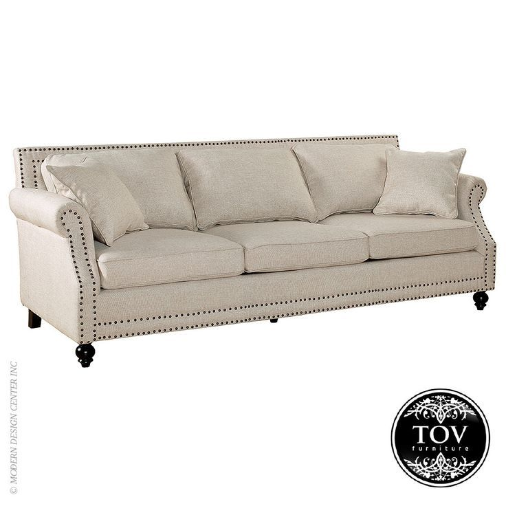 Camden Beige Linen Sofa By Tov Furniture With Images Furniture Linen Sofa Comfortable Living Room Furniture