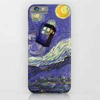 VAN GOGH STARRY NIGHT TARDIS iPhone 6 Slim Case