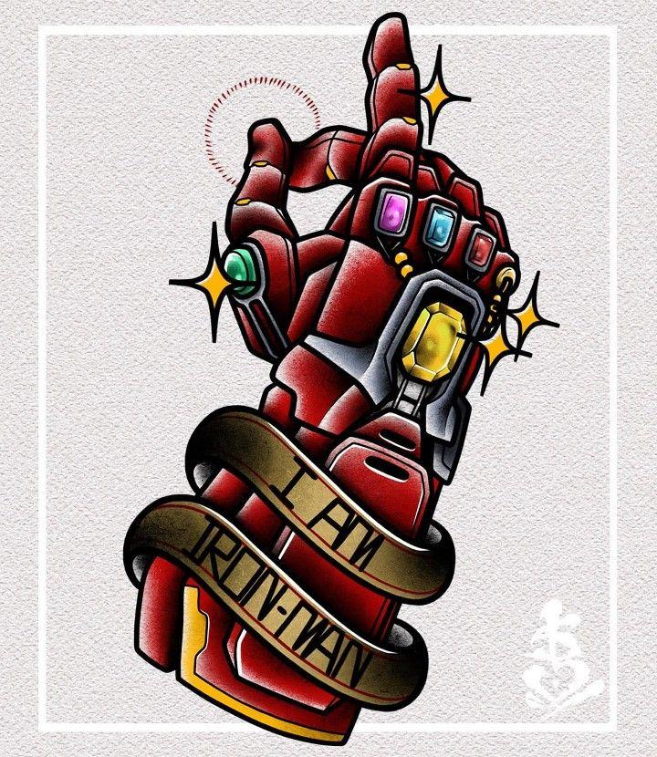 Iron Man Infinity Gauntlet Tattoo Design Marvel Tattoos Iron Man Tattoo Marvel Drawings