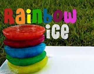 Rainbow Ice (water table, bath, or baby pool play)