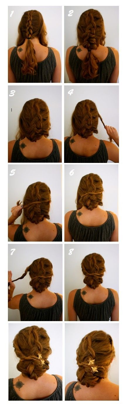 The braided twisted updo hairstyle is full of sexy and fun appeal. This admiring hairstyle works well one medium and long hair. If you like it, you can also try it out. Divide you hair into 3 parts, with less strands at the sides, and more at the center. Create the middle part into a[Read the Rest]