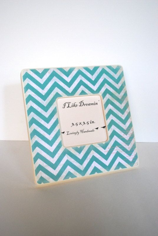 Teal Chevron Picture Frame