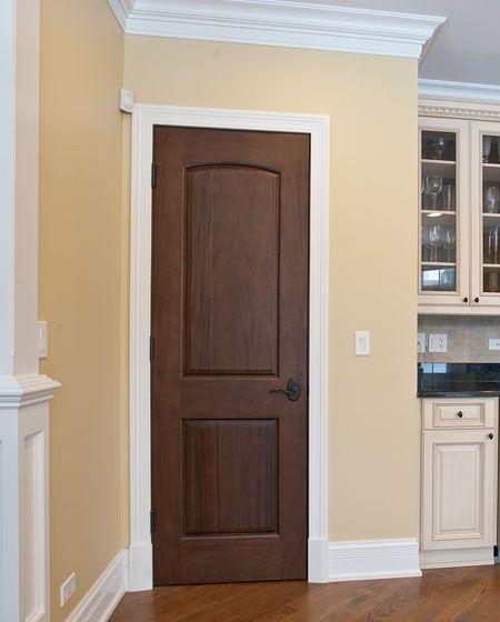 Wood Door With White Trim :)