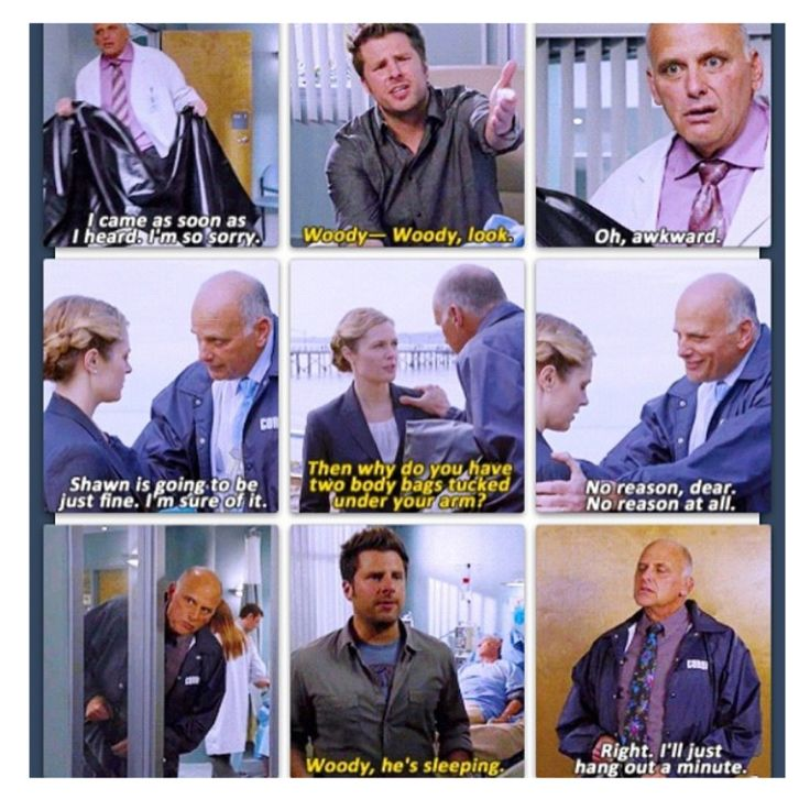 Woody in his moments. #Psych