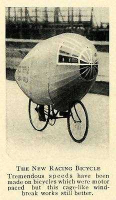 1914 Print Racing Bicycle Bike Cage Biking Speed Racer Hobby Athlete Invention | eBay