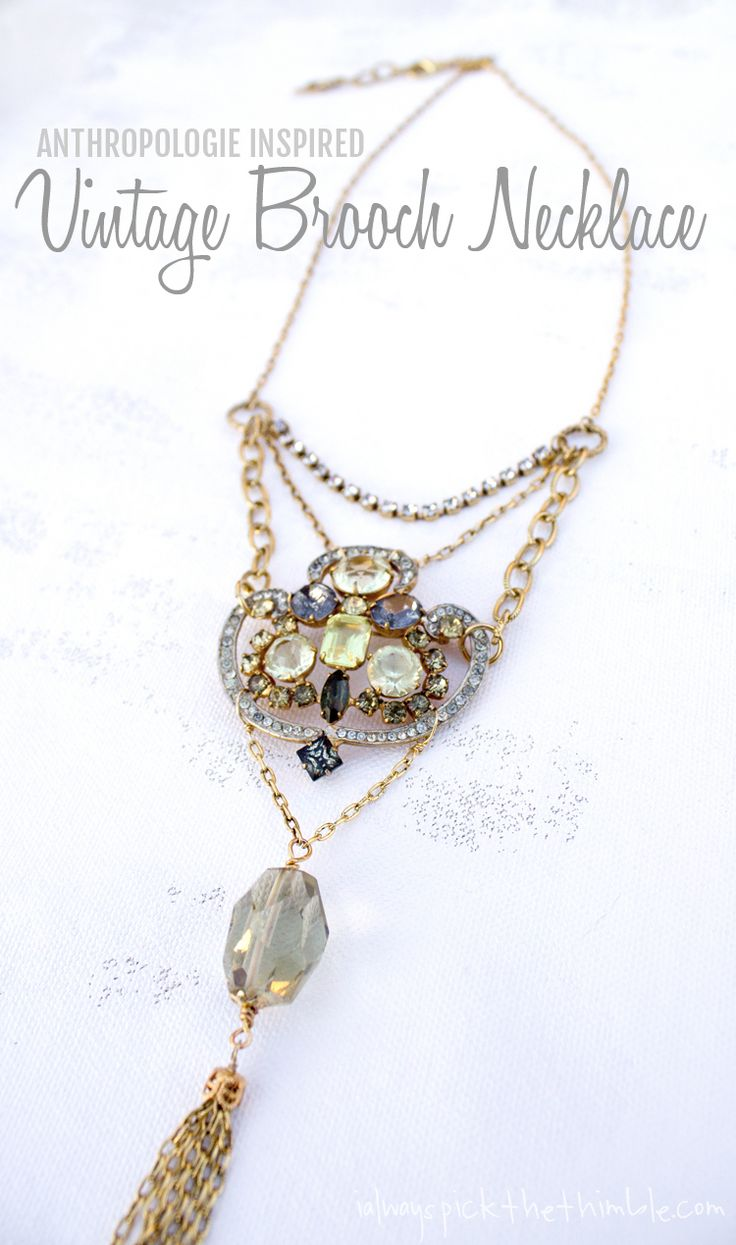 how to turn a necklace into a brooch