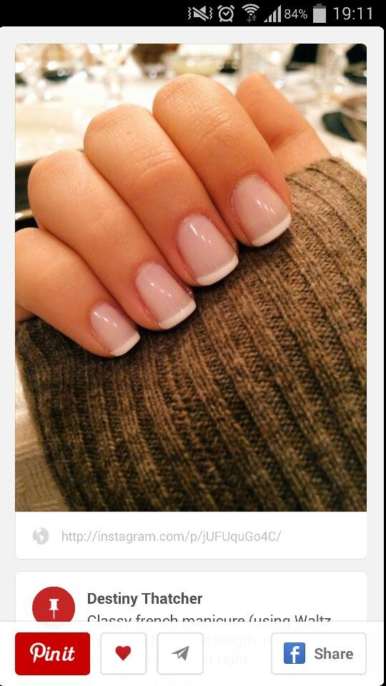 Simple but cute french manicure #fall14