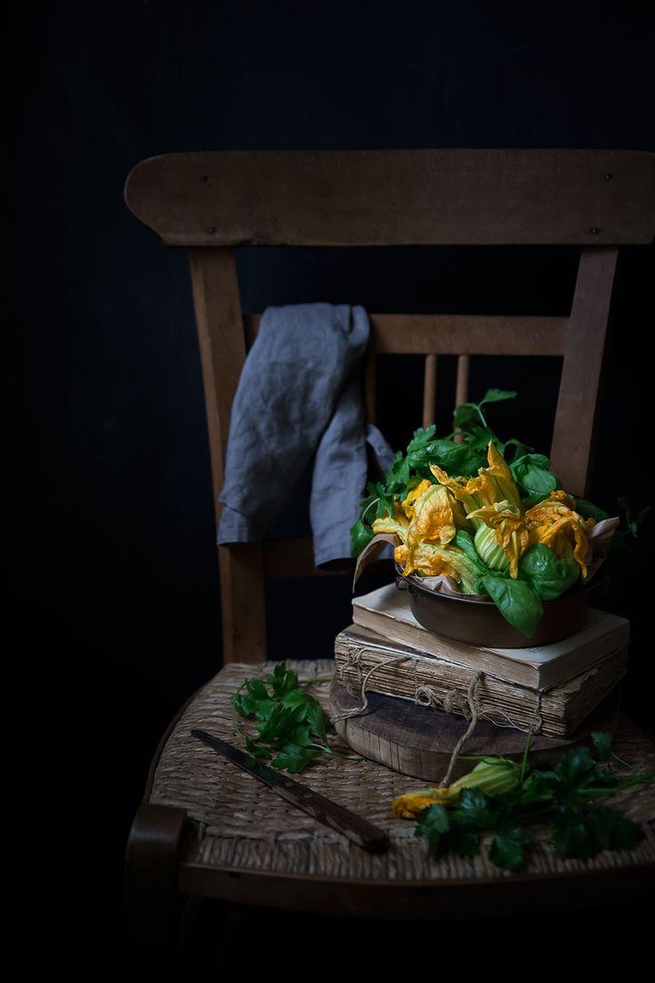 Tortino di riso ai fiori di zucca e limone