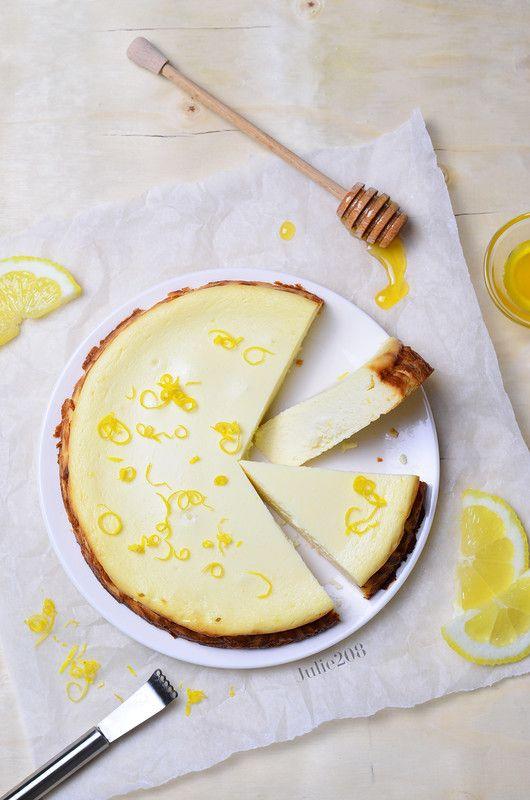 Лимонный пирог с рикоттой и медом - Меню недели