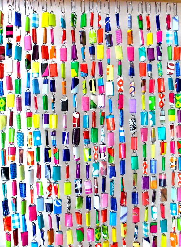 bead curtain from Blijmetkleur blog