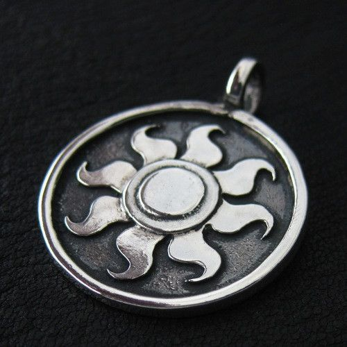 Silver Celestia's Sun pendant from The Sunken City by DaWanda.com