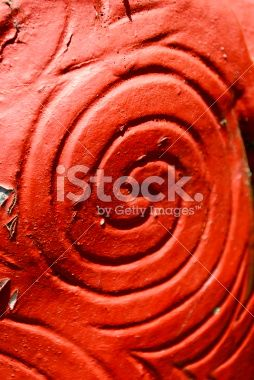 Close-Up of a Maori Statue Royalty Free Stock Photo