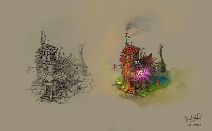 Alchemist's Hut by VodopyanNIKolya on DeviantArt