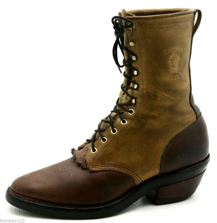 "Chippewa Mens Cowboy Boots Size 13 Arroyos Packer Western Oiled Leather USA 10"" #Chippewa #CowboyWestern"