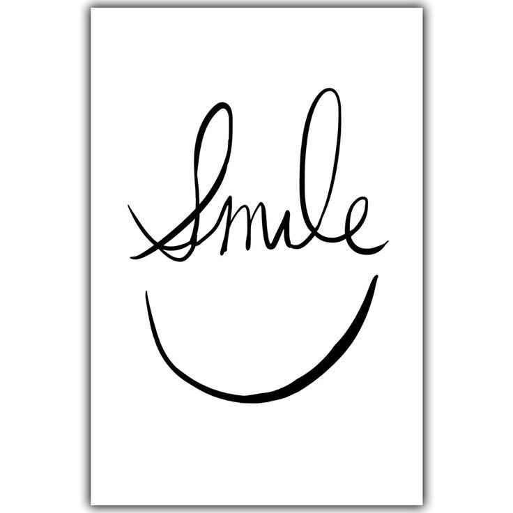 Cara sonriente Minimalista Frase Inspirada Negro Blanco A4 Lienzo Pintura Art Print Poster Imagen Pinturas Murales Decoración de La Pared en Pintura y Caligrafía de Hogar y Jardín en AliExpress.com   Alibaba Group
