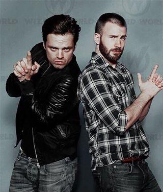 Chris Evans and Sebastian Stan - visit to grab an unforgettable cool 3D Super Hero T-Shirt!